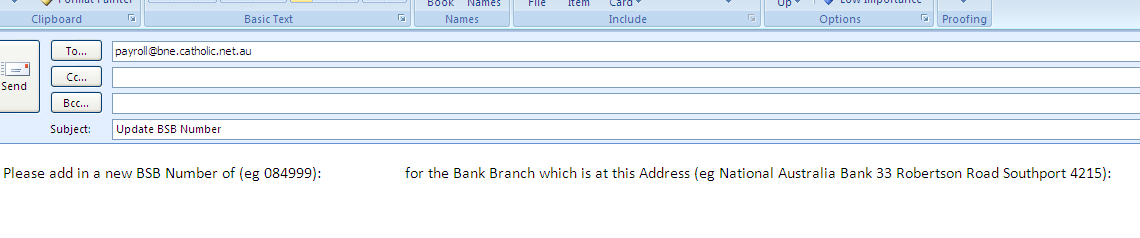 Q. I cannot enter in my new Bank Account because the system will not accept my BSB Number. A. You are unable to enter an incorrect BSB number or a BSB number that is not in the list.