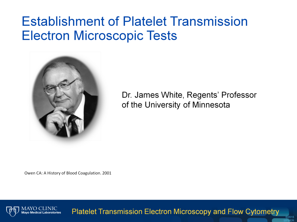 Platelet TEM was first used to study human platelets in 1950s. In the past 50 years, Dr.