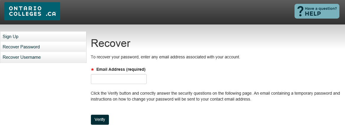 Recover Your Username or Password Passwords and usernames are recovered separately but the