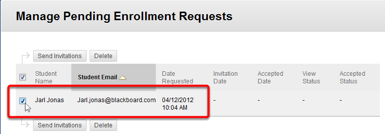 3. Expand the Manage menu, and then select Pending Enrollment Requests. 4.