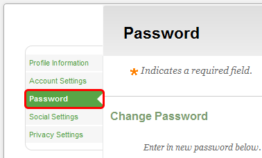 Changing Your Password 1. On the My CourseSites tab, within the Instructor Tools menu, click Personal Information.