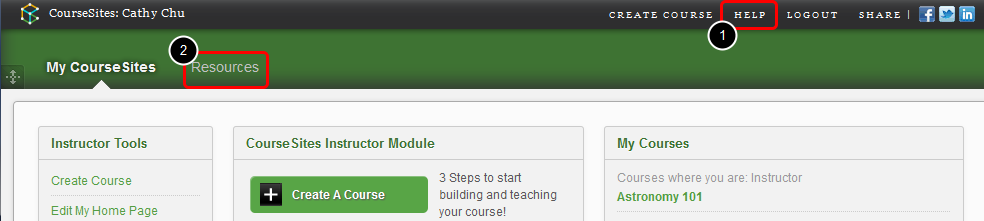 Getting Support Follow the steps b elow to access Resources tab and support page through HELP link. 1.