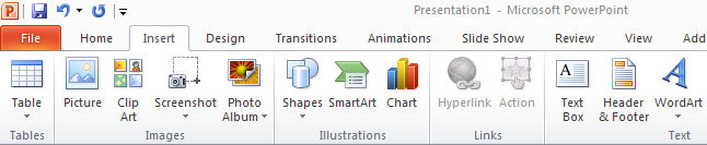 B. Add and Manipulate Text and Graphics Create areas of text and graphics with tools from the Home and Insert tabs.