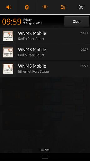 WNMS Mobile Controls TODO Notification After