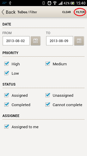 complete Administrator logged in the WNMS Mobile application must navigate on TODO list and