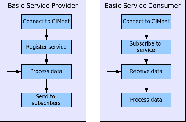 Service Is an application specific, system wide defined data type, that a module provides or accepts GIMI defines the service