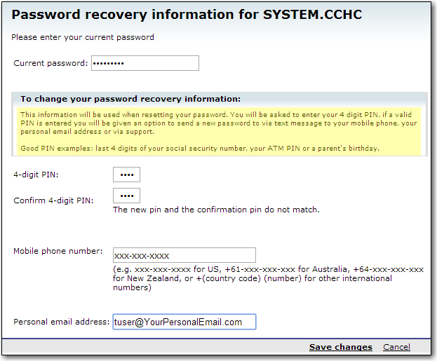1. Navigate to My Account in the top right then click on Change recovery information 2.