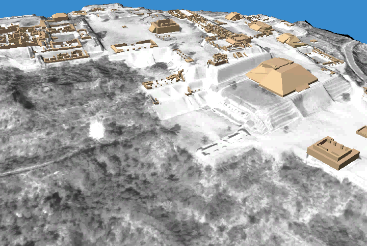 Xochicalco, Mexico Pre-hispanic site, 700-800 AD Digitally reconstructed from archive aerial