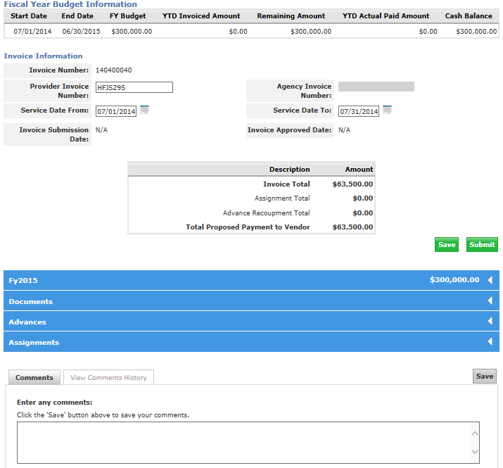 43 From the Budget Summary tab, the overall budget and invoice is displayed. 43.