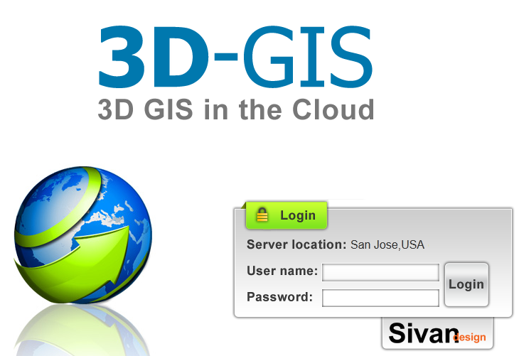 2. Working with 3D GIS in the Cloud 2.1 Getting Started 2.1.1 3D GIS in the Cloud Interface Explorer User Access through a link to a published project (created in 3D GIS Online): 1.