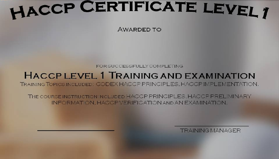 Training Software The interactive and illustrated PowerPoint HACCP training presentation is supplied with training software.