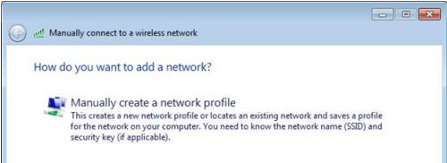 3. In the wireless network utility window, click Add to add our Wireless Profile. 4.