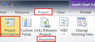 Define Project Settings Using Microsoft Project 2010 for Windows Introduction There are a number of settings in Project that should be defined before capturing tasks.