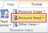 Work Resources Using Microsoft Project 2010 for Windows Introduction A work resource like a person or piece of equipment is limited by the time it s available.