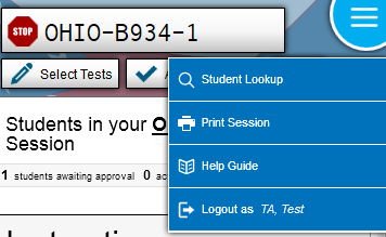 Step 10. Ending the Administration A student s test ends if the student submits the test part.