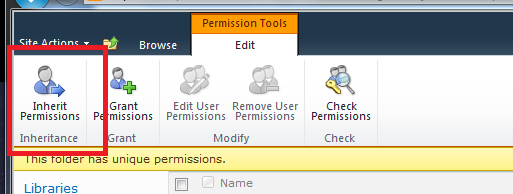 Setting up permissions: The recommended method of managing permissions is to create groups and give the groups permission to an area or item.