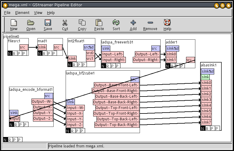 GStreamer Pipeline Editor GStreamer includes a utility called gst-editor to graphically build it s