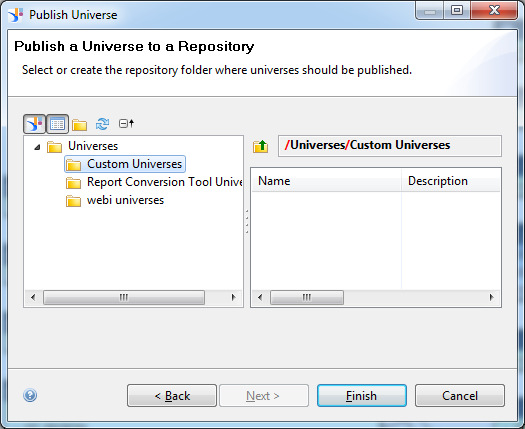 Step 19: Select a folder in the repository. Click Finish.
