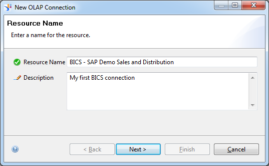 Don t forget to tick the setting Allow external Access, otherwise queries can t be selected in SAP BusinessObjects. Step 1: Right click with your mouse on a folder and select Insert OLAP connection.