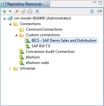 Note: With this BICS connection you re able to create a new report with Crystal Reports,
