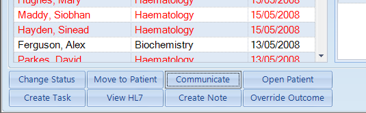 Patients Health Summary texts In the patient s health summary you will see an icon that allows you to send a text message to this patient.