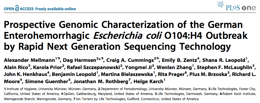 Prospective Genomic Ad Hoc Epidemiology Phylogenetic Analysis of STEC/EHEC 0104:H4 Method By quick and dirty hybrid reference mapping & de novo assemblies & BIGSdb core genome MLST (cgmlst or MLST+)