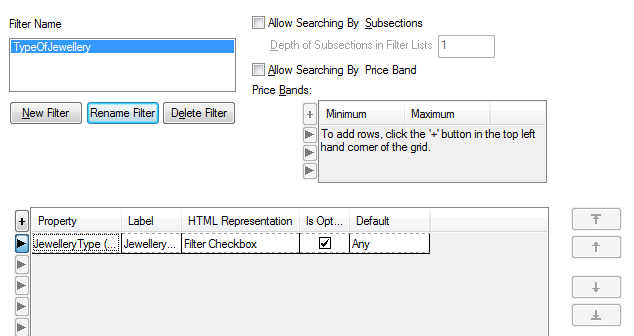 Custom Filters Overview When customers are looking at a long list of products they can use new custom filter tools to change what products are visible on the page.