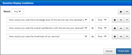 Use the Distribution tab to set options for how the survey will be available to customers.