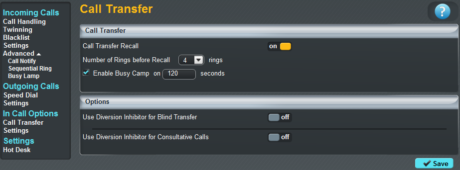 How can I change my Call Transfer settings? When you have answered a call, you have the ability to transfer this through to another colleague or number.
