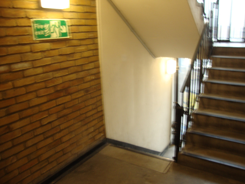 ESCAPE ROUTES FROM FLATS Once you have evacuated your flat and ensured that the door is latched shut behind you, you will find yourself in the communal corridors (Floors 1 to 10) or the open deck