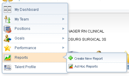Performance Selecting the Performance section allows you to navigate to the above options.