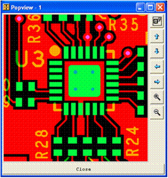 movement between sides of the PCB during reflow