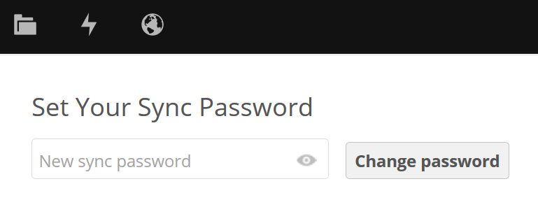 OwnCloud settings (optional setup) Sync password If using the optional sync clients from owncloud, you will be required to set a separate owncloud Sync password.