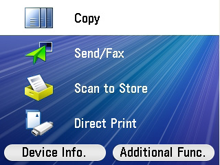 How to copy 1 Using the arrows or Scroll Wheel found below the device screen, select the Copy option and OK to confirm.