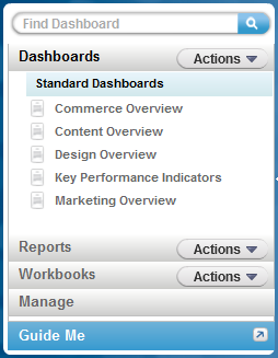 Dashboards or Reports.
