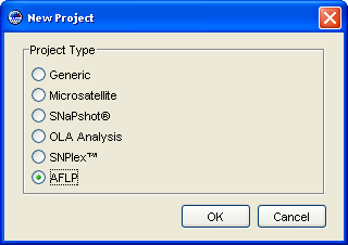Chapter 2 Setting Up the Analysis Creating a Project Creating a Project Overview In this procedure, you will create the project that you will use to analyze the example AFLP data set provided with