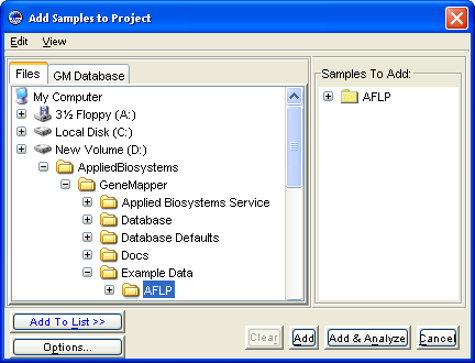 Chapter 2 Setting Up the Analysis Adding Sample Data to the Project Adding Sample Data to the Project Overview In this procedure, you will add the example AFLP data set to the project from sample