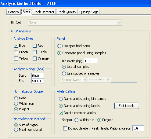 Chapter 2 Setting Up the Analysis Creating an Analysis Method 7. Configure the Normalization settings: a. (Optional) In the Normalization Scope settings, select Project. b.