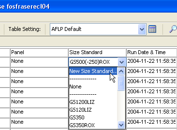 Chapter 3 Analyzing and Examining the Data Examining the Size Quality Data Creating a Custom Size Standard 1. In the GeneMapper window, click (Tools GeneMapper Manager). 2.