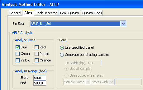 Chapter 3 Analyzing and Examining the Data Saving the Generated Panel and Bin Set Editing the Analysis Method for Use with the Generated Panel Before you can use the generated panel to analyze the