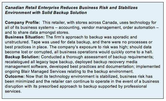 Other advantages of leading-edge backup strategies include: Faster offsite data replication means dramatically increased bandwidth efficiency and tape-free disaster recovery.