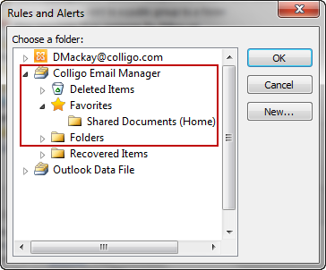 Using Outlook Rules to File Emails To use an Outlook rule to file an email: 1. In Outlook, you can use the Rules Wizard to define the properties of the email that will be filed by the rule. 2.