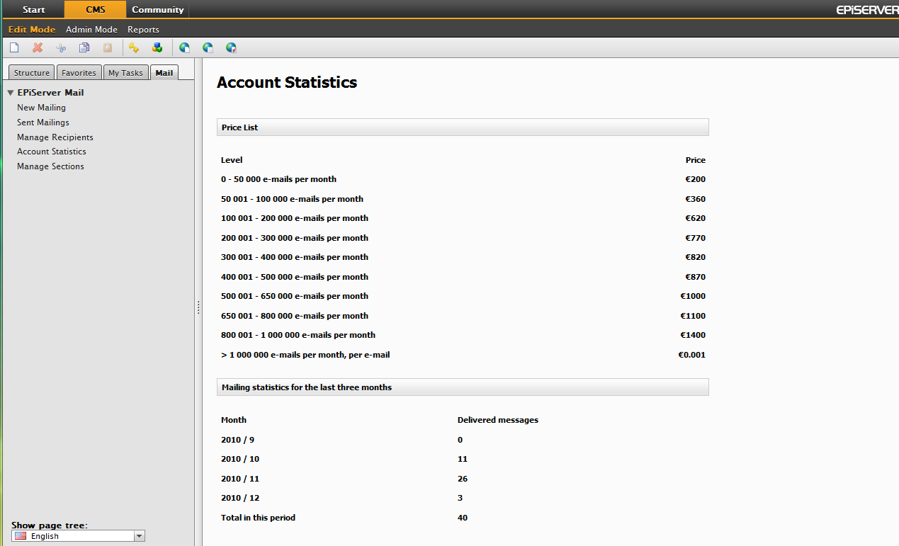 Account Statistics 19 Account Statistics The Account Statistics menu option allows you to gain control of your mailing costs.
