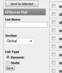 EPiServer Community Integration 21 EPiServer Community Integration If you use EPiServer Community, it is possible to save e-mail addresses from the search results in User Management within EPiServer