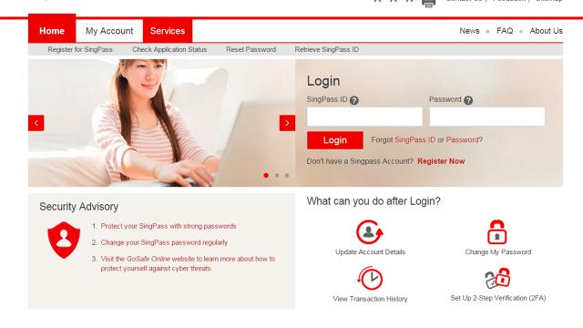 7. MAIL MY PASSWORD To reset pssword vi mil, visit the SingPss website