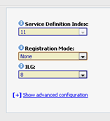 Select the Service Definition tab and then click the New icon. Choose a SIP Trunk Service Definition Index from the pull-down menu of the Service Definition Index field.