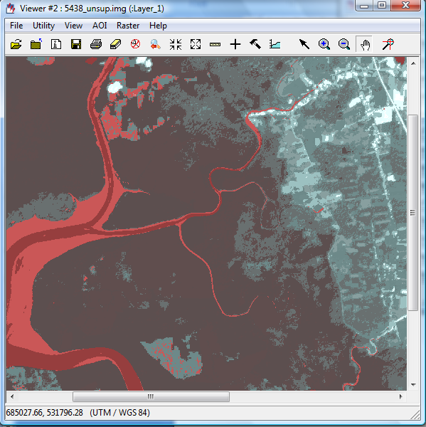 4. Click OK and run the process. 5. Open output file in a new viewer The above is an example of a mangrove forest with cleared areas, new regrowth and an urban area.