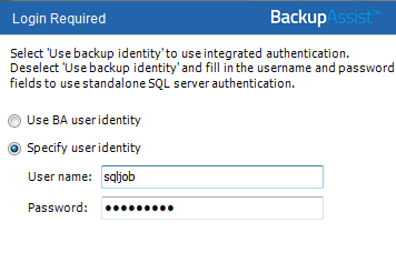 5. Creating an backup will back up selected SQL databases on local and remote SQL servers.