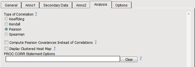 9. Choose the cross_corr_anno data set provided. Note: You can improve processing time by not specifying an annotation data set. 10. Complete the Anno1 tab as shown below: 11.