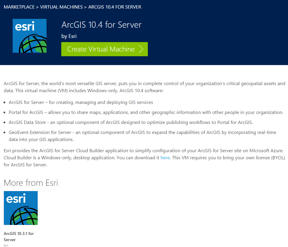 ArcGIS for Server in the Cloud Strategy Esri provides images for Amazon